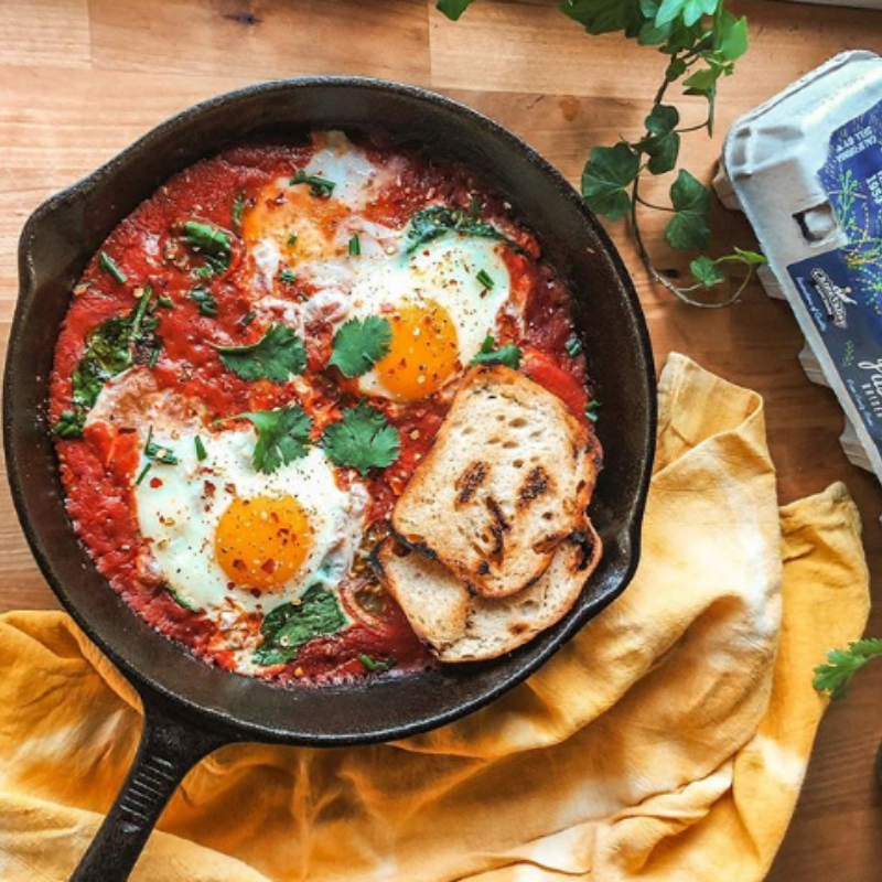 Chino Valley Ranchers Pasture Raised Eggs Featured in Shakshuka Recipe