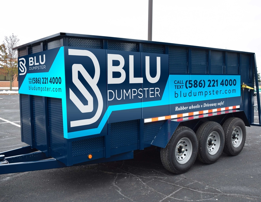 Blu Dumpster Rentals Provides Driveway Safe Dumpsters to Macomb County and Oakland County Michigan Residents