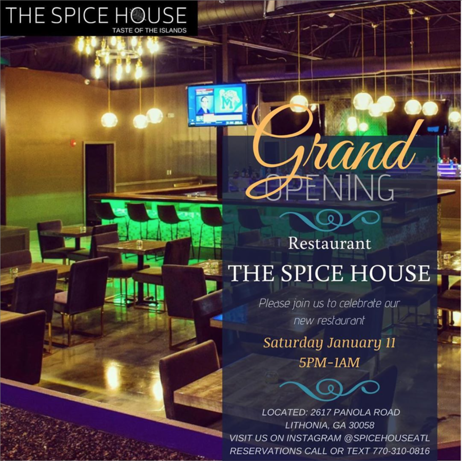 Spice House Restaurant Opens it's Second Location January 11, 2020 in the City of Stonecrest Georgia introducing Haitian, Jamaican, Trinidadian, Cuban, Caribbean, Bahamian Dishes
