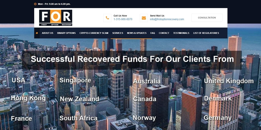 Lost Funds ? Don't Worry, First Option Recovery is Helping Clients across the globe to Recover Funds