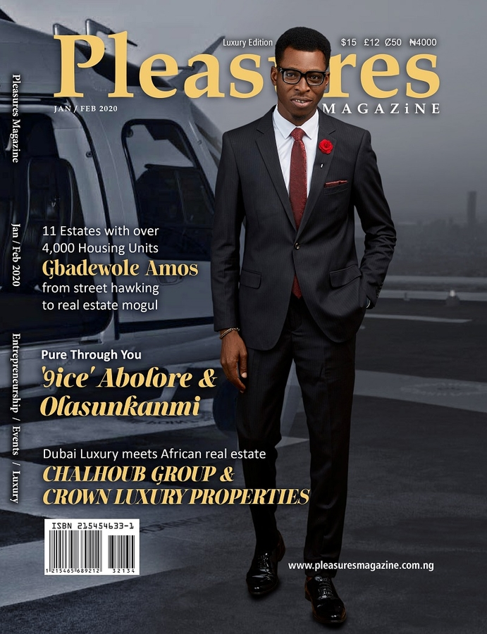 Evolving Luxury Industry as Gbadewole Amos Kayode Covers Jan/Feb 2020 Issue of Pleasures Magazine