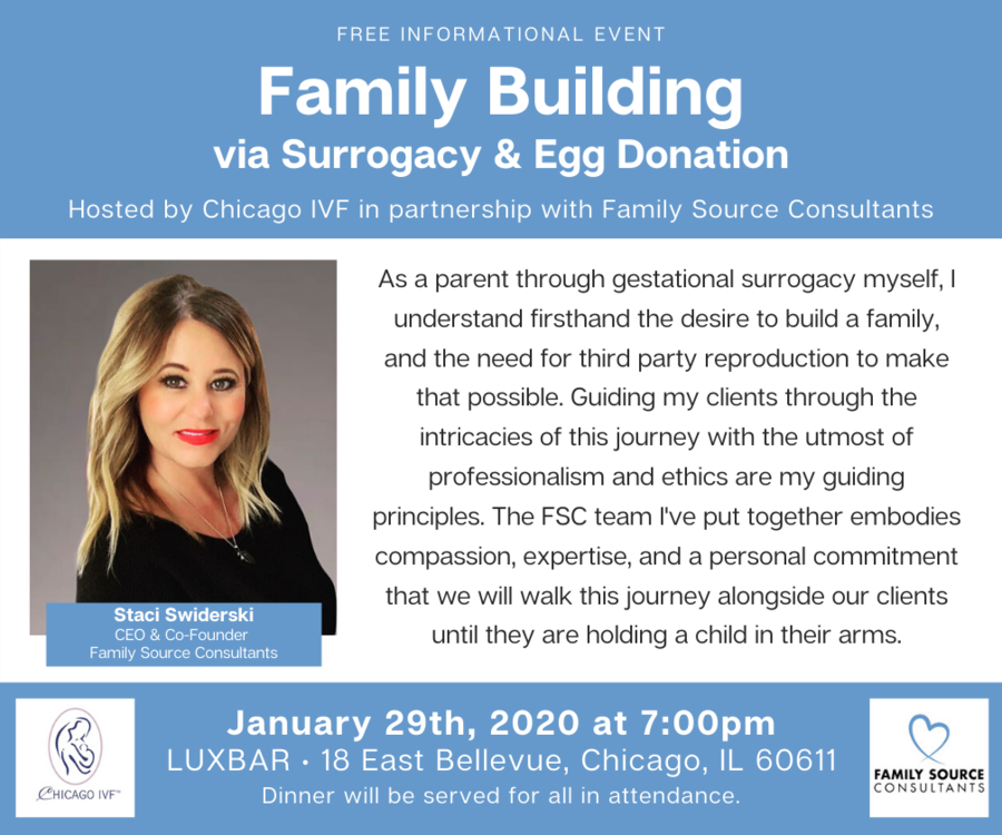 Family Building via Surrogacy and Egg Donation Event