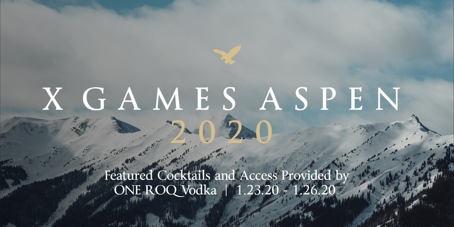 ONE ROQ Vodka Club Announces Sponsorship of the 2020 X Games in Aspen, Advancing Its Next-Generation Spirit