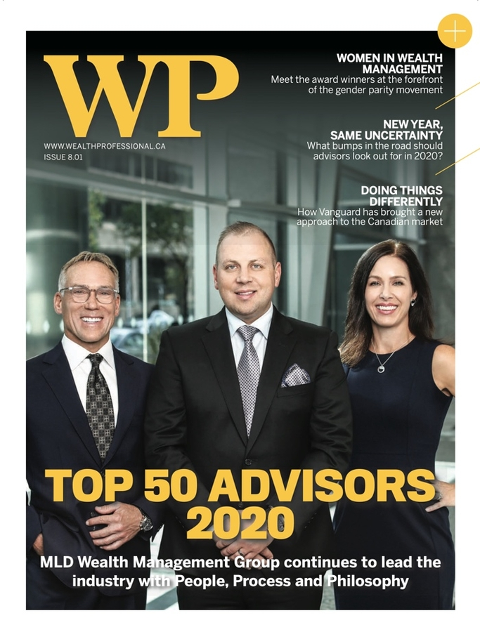 Announcement: Chad Larson of MLD Wealth Management Group is recognized as one of Canada's top 50 Advisors