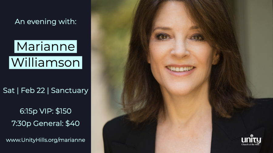 An Evening with Marianne Williamson presented by Unity Church of the Hills – Austin, Texas
