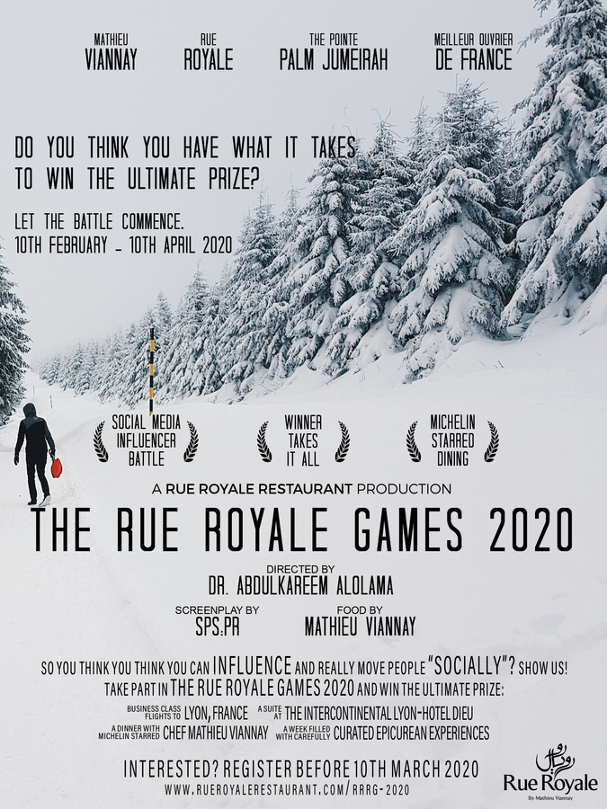 The Rue Royale Games 2020 – The Middle East's First-Ever Social Media Influencers & Content Generators Battle