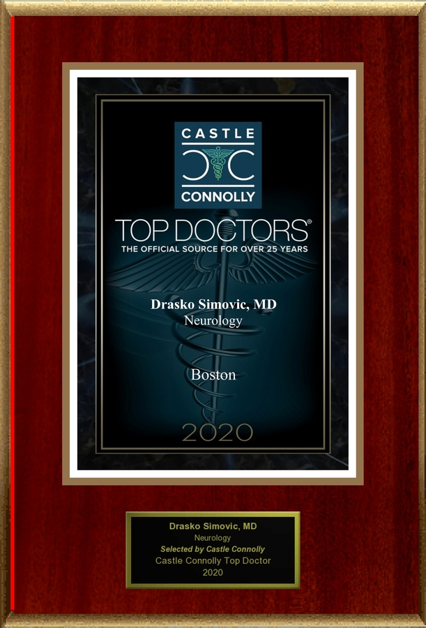 Dr. Drasko Simovic is recognized among Castle Connolly Top Doctors® for Greater Boston, MA region in 2020