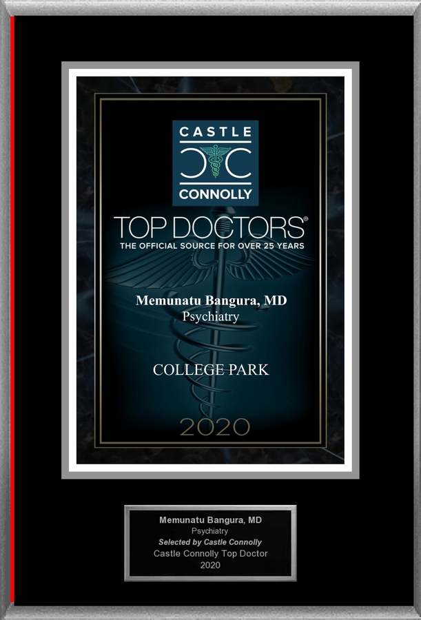 Dr. Memunatu Bangura is recognized among Castle Connolly Top Doctors® for COLLEGE PARK, MD region in 2020