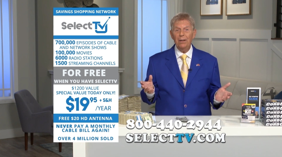 SelectTV's Cord-Cutting Kit Launched via Nationwide Infomercial Blitz