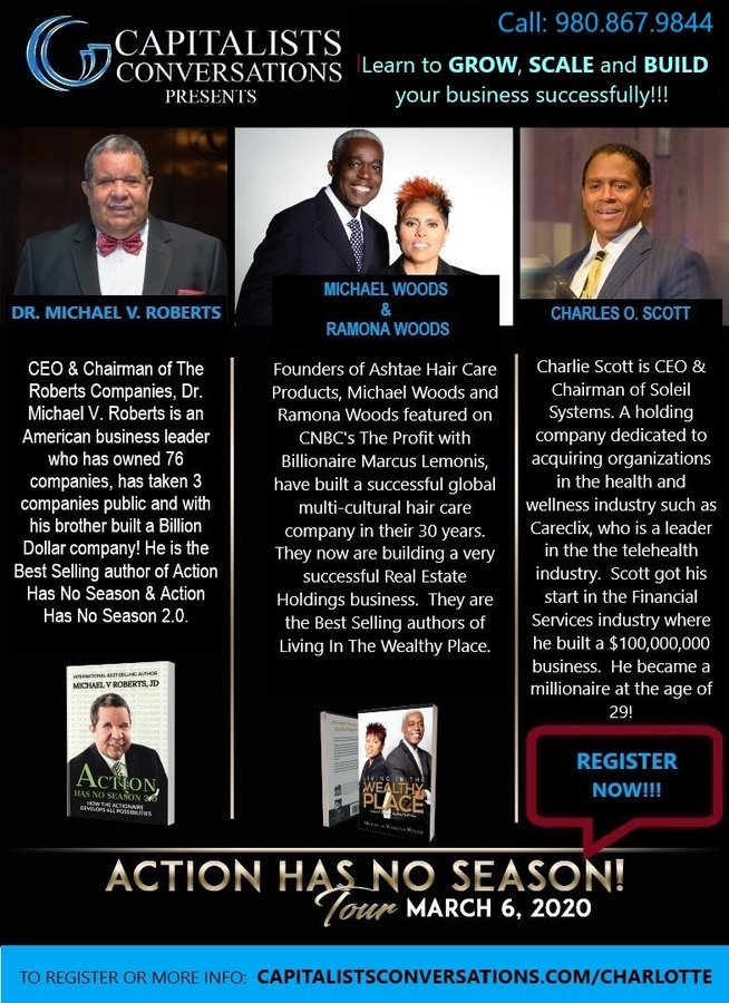 Capitalists Conversations Presents the Action Has No Season Tour with Dr. Michael V. Roberts