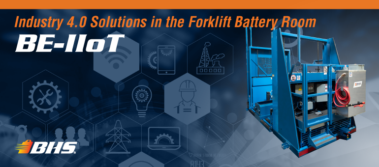 BHS, Inc. Updates Forklift Battery Extractors with IIoT Connectivity