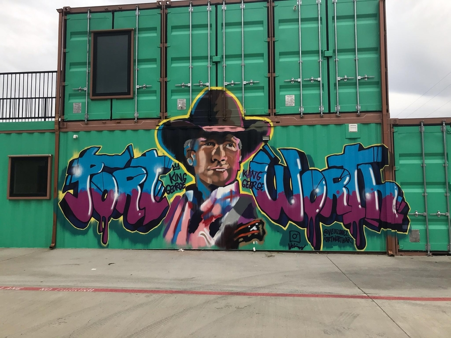 "Tribute to George Strait's ""Does Fort Worth Ever Cross Your Mind"" by Soldier Juan Velazquez Wins Top Prize at Fort Worth Graffiti Art Fest"