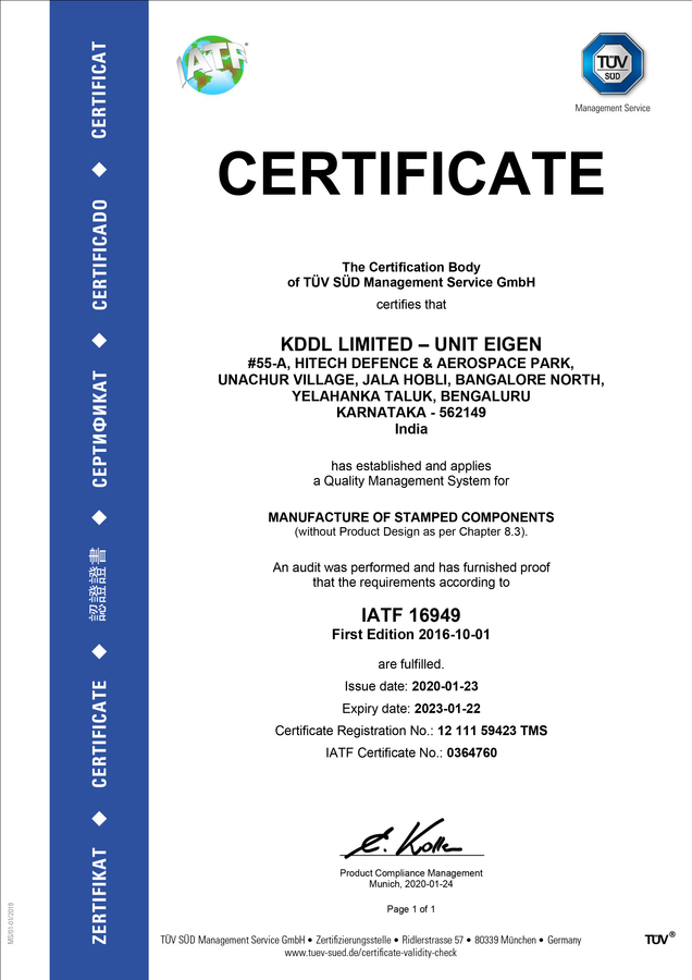 Eigen Has Done It Again – Another Certification for Quality Assurance