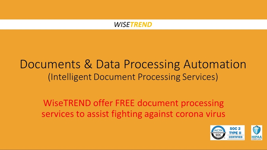 WiseTREND Offer Free Document Processing Services to Assist Fighting Against Coronavirus and COVID19