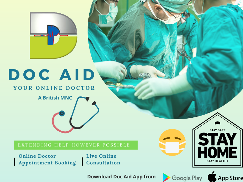 Doc Aid – Your Online Doctor: The British MNC (A Product By Lam Aid Limited) Introducing Live Online Consultation, Online Doctor Appointment Booking, Online Prescription with World's Best Doctors