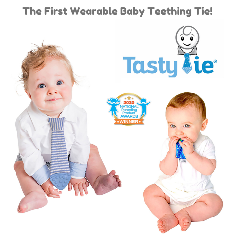 Tasty Tie® – The World's First Wearable Baby Teething Tie!