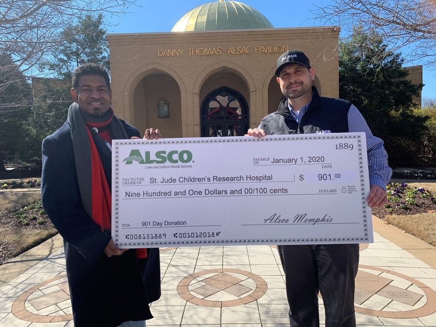 Alsco Memphis Donates to St. Jude Children's Research Hospital