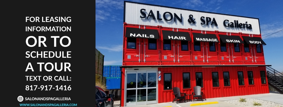 Salon Suite Rental Salon Made of Colorful Shipping Containers Anchors North Fort Worth Design District