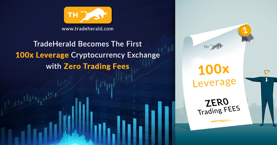 TradeHerald Becomes The First 100x Leverage Cryptocurrency Exchange with Zero Trading Fees