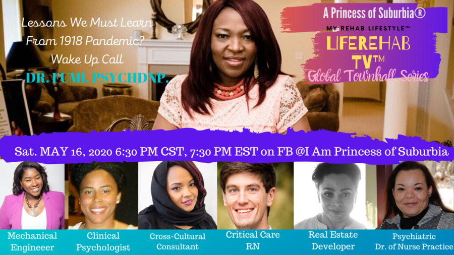 Princess of Suburbia® & Psychiatric Dr. of Nurse Practice, Dr. Fumi Hancock, PsychDNP, Launches An Online Mental Health Global Townhall™ Series … LifeRehabTV™ (MyRehabLifeStyle™)