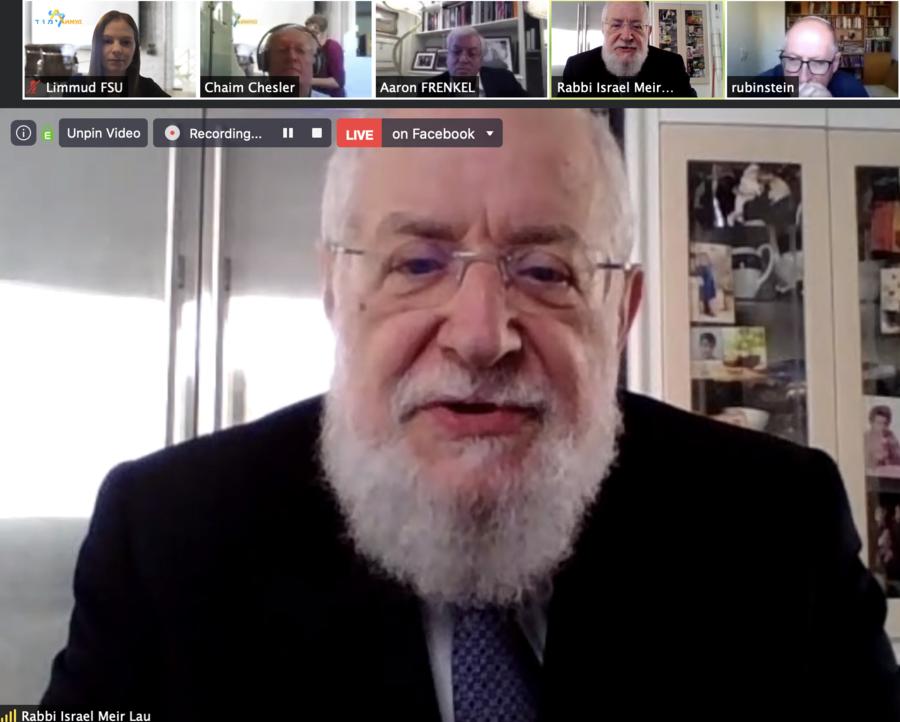 Limmud FSU International Gives Russian-speaking Jews Around The World The Opportunity To Hear Rabbi Israel Meir Lau And Justice Elyakim Rubinstein Online