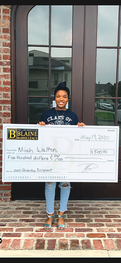 Personal Injury Lawyer, Blaine Barrilleaux, Announces his Spring Scholarship Winner