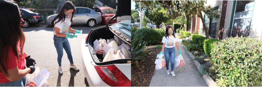 Actress Tiffany Panhilason Teams Up With Mentari USA To Drop Off Warm Cooked Food For Frontliners