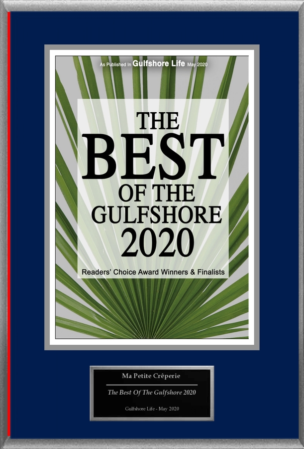 "Ma Petite Creperie Selected For ""The Best Of The Gulfshore 2020"""