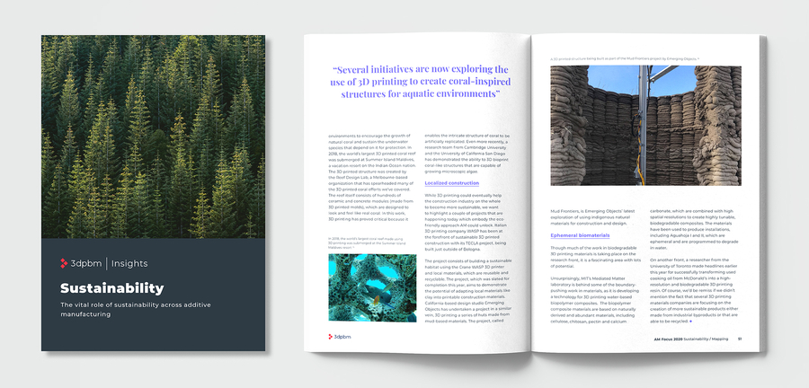 3dpbm Releases New AM Focus 2020 eBook Addressing Sustainability in Additive Manufacturing