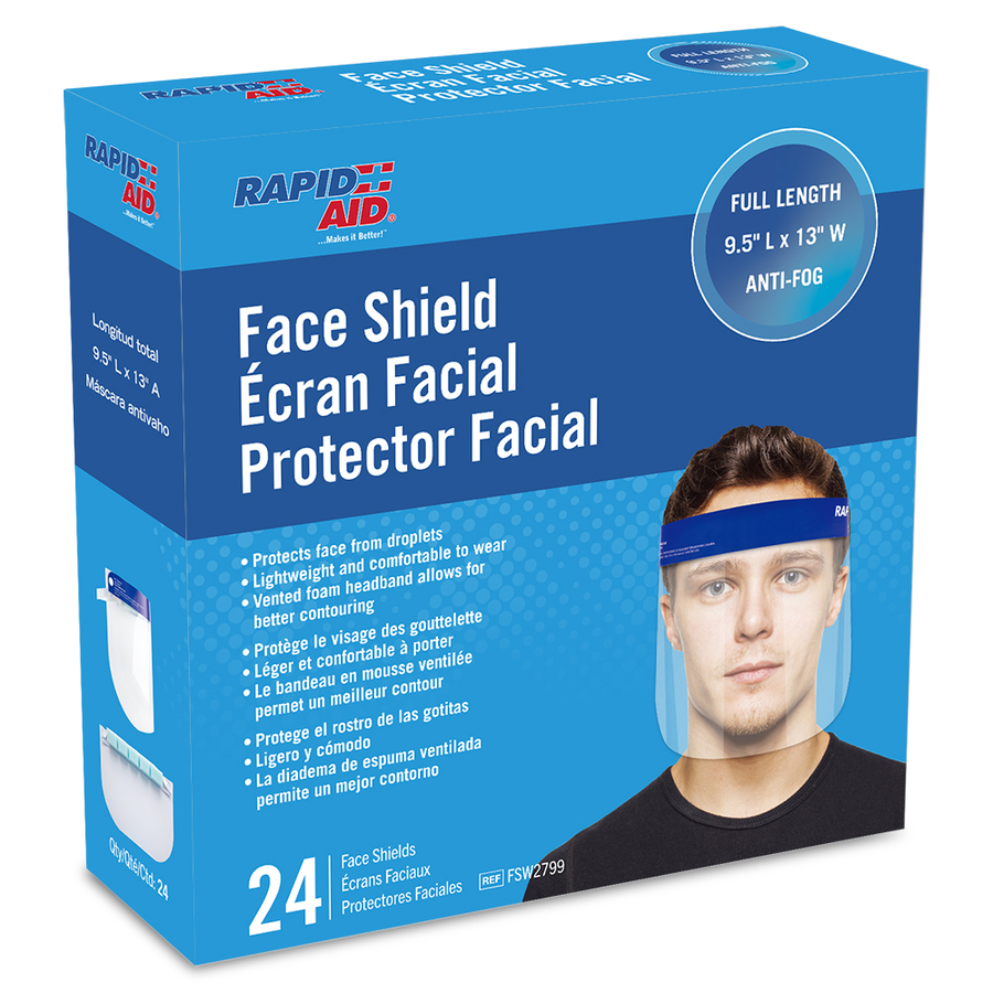 Rapid Aid Begins Production of 300,000 Face Shields Per Week