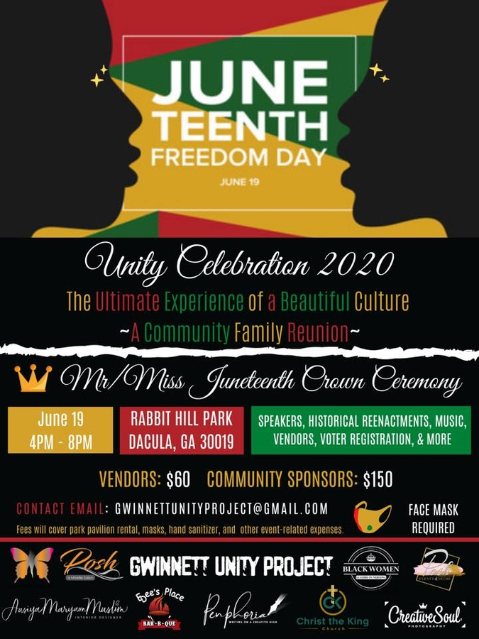 Gwinnett UNITY Project Hosts Black Cultural Event THIS FRIDAY 6/19