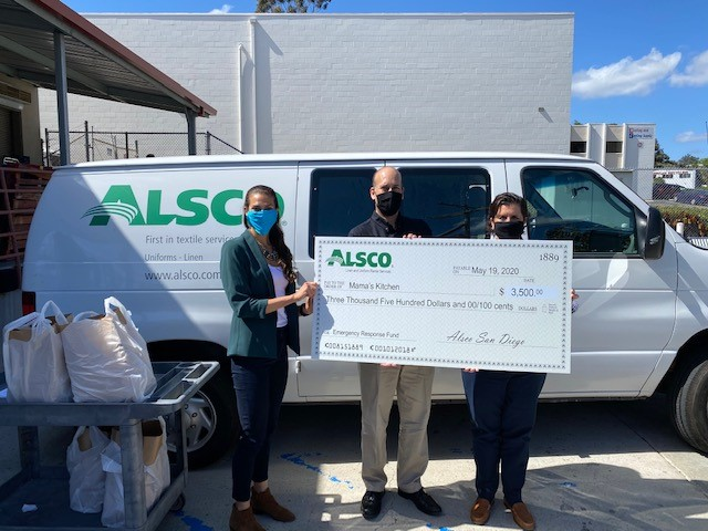 Alsco San Diego Donates to Mama's Kitchen