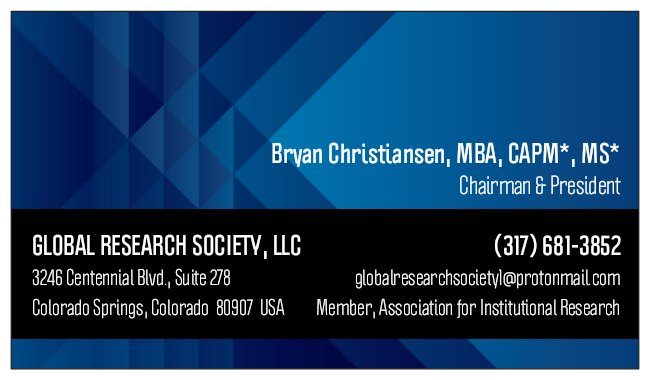 Global Research Society, LLC Relocates Headquarters to Colorado Springs, Colorado