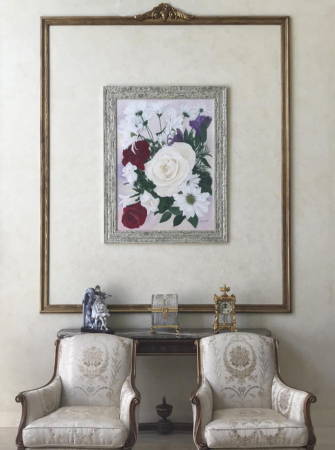 L.A. CLINE, President of L.A. CLINE Fine Art & International Pastel Artist Launches Bouquet Paintings as a Forever Wedding Keepsake