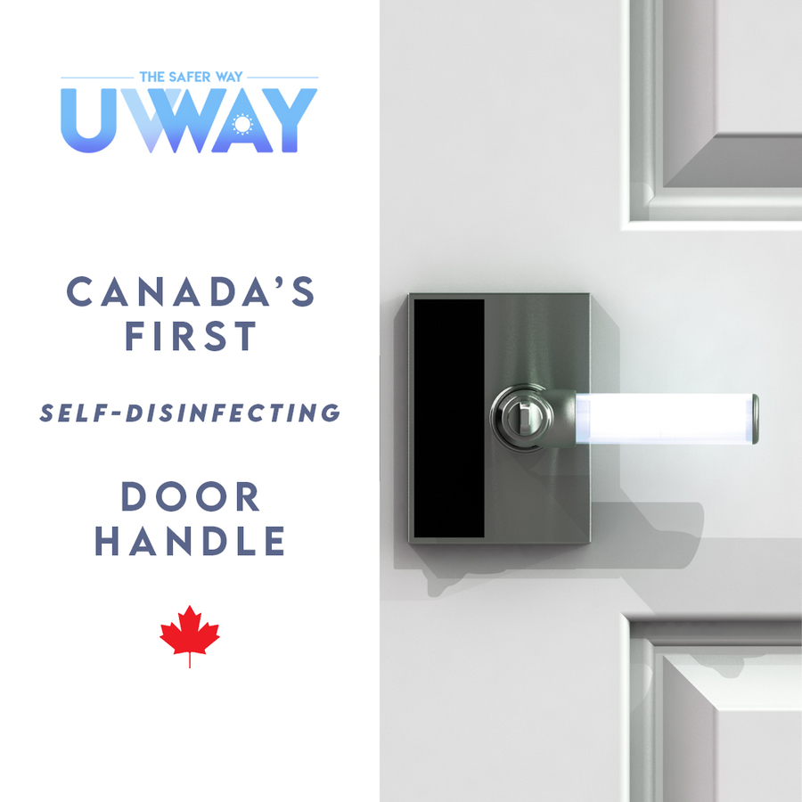 Washing Hands Not Enough: Luxars Inc. Launches UVWAY; Canada's First Self-disinfecting Door Handle