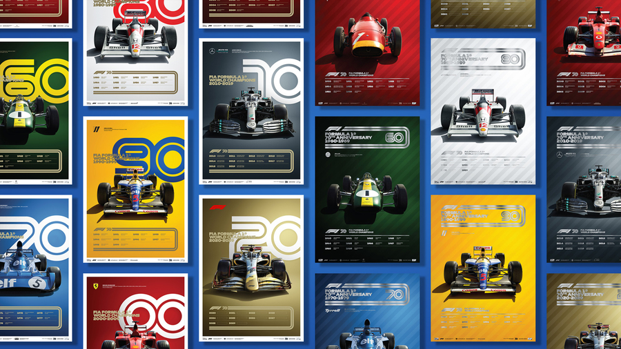 Formula 1® celebrates 70th Anniversary in collaboration with Automobilist