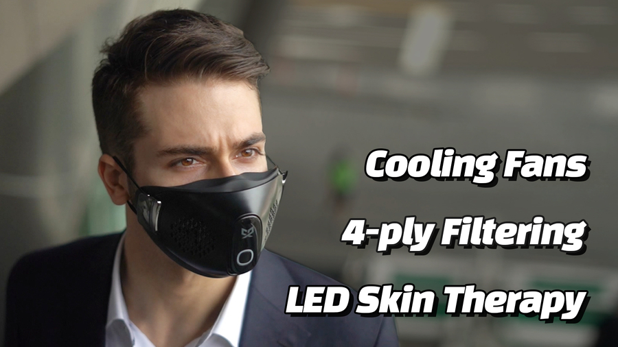 CX9, the World's First Filtering Mask with LED and Outdoor Lightweight Fan, a Lifestyle Changer