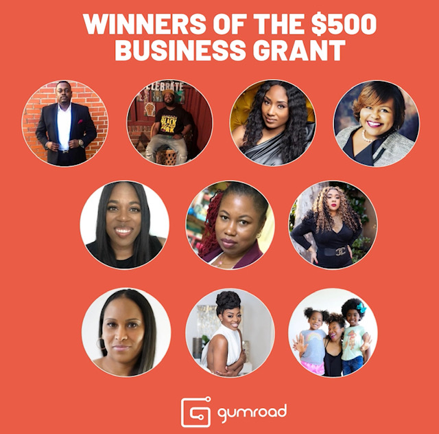 Gumroad Announces Winners of Grants for Small Black-Owned Businesses