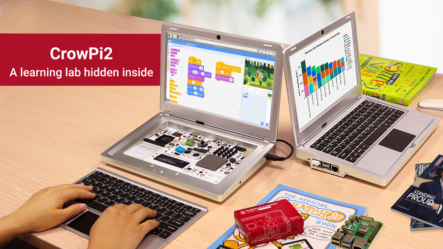 CrowPi2- A Must-Have Portable STEM Education Laptop for Your Kids