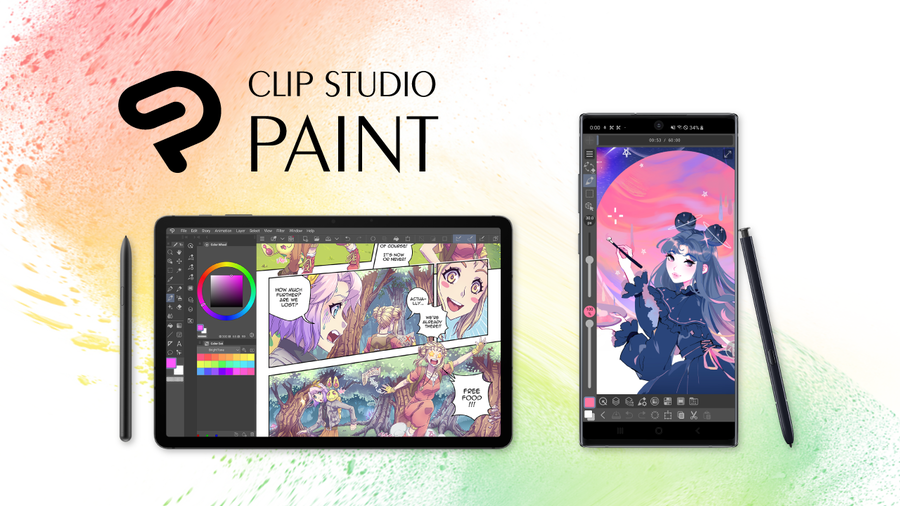 The Artist's App for Drawing and Painting, Clip Studio Paint for Galaxy, Now Available in the Galaxy Store Worldwide