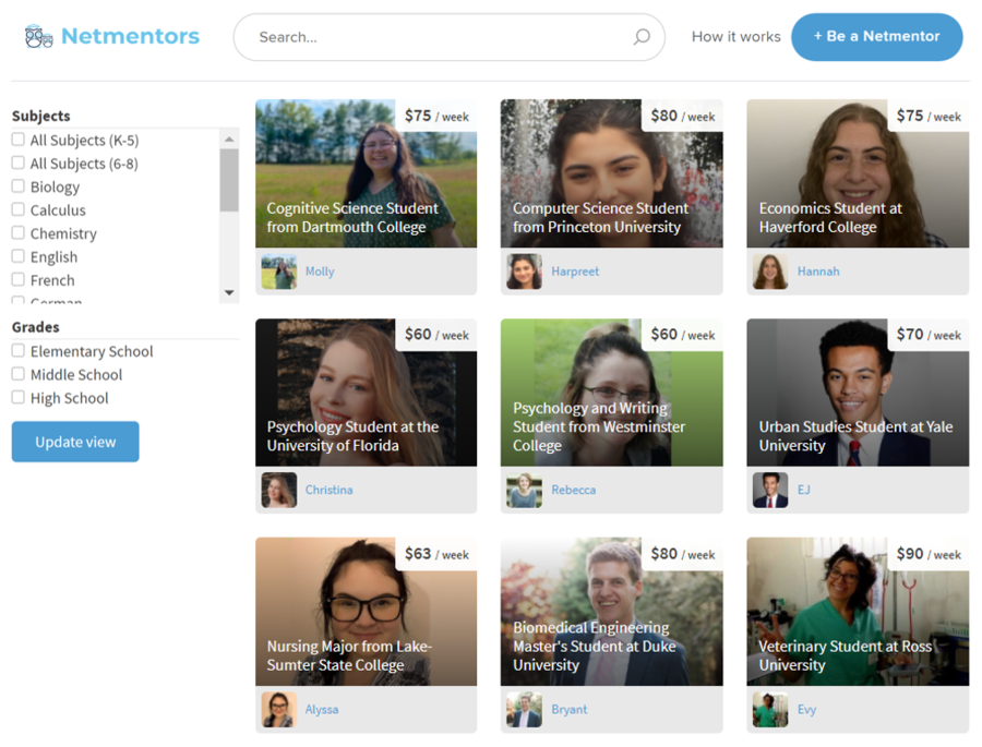 Netmentors Debuts Dynamic Online Tutoring and Mentoring Platform Tailored for Online Students