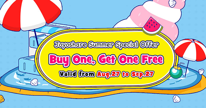 "Joyoshare Announces ""Buy One Get One Free"" and More Special Offers"