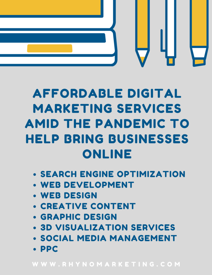 Rhyno Marketing & Design Launches Affordable Digital Marketing Services Amid The Pandemic To Help Bring Businesses Online