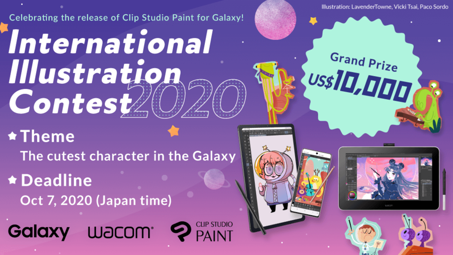 Celebrating the launch of Clip Studio Paint for Galaxy!