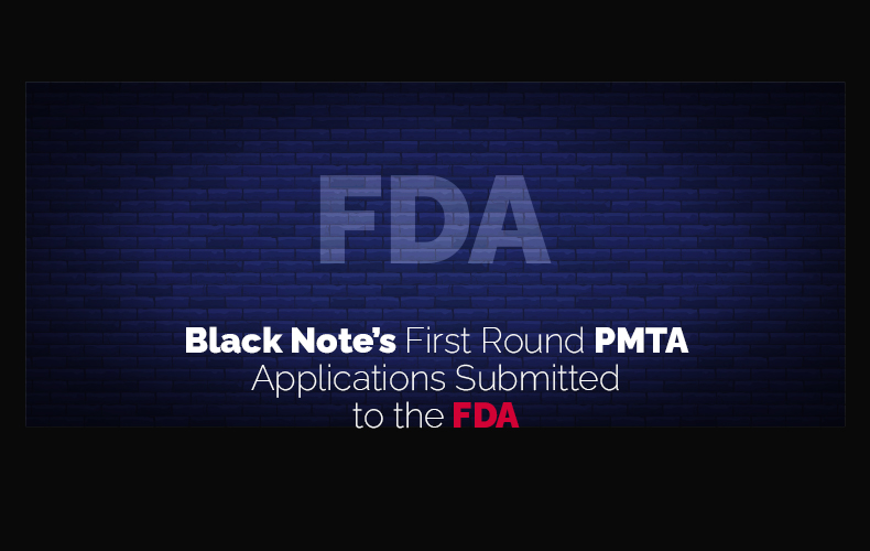Black Note's Vaping PMTA Application Has Been Submitted to the FDA