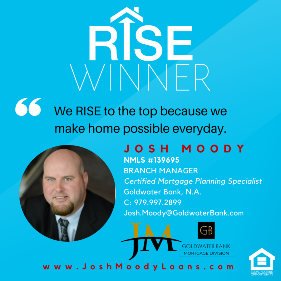 "Josh Moody of Goldwater Bank Wins Freddie Mac ""RISE"" Award"
