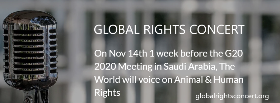 Call of The Wild – Global Rights Concert – Nov 14th 2020 – Comedians, Artists, Musicians, Actors, Actresses, Hosts