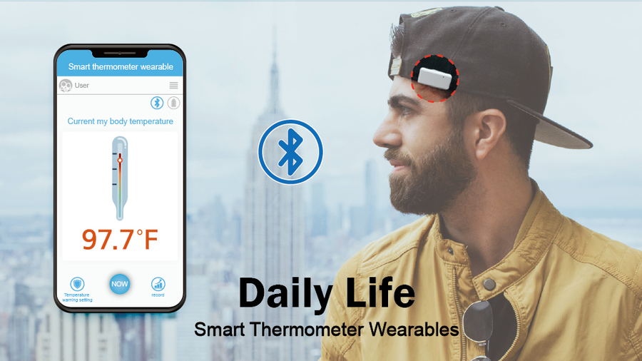 Wearable Fashion Thermometer Snap Fever
