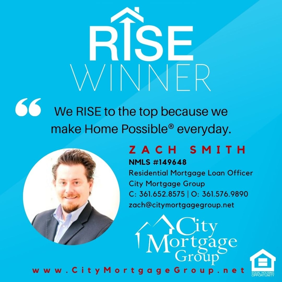 "Zach Smith of City Mortgage Group Wins Freddie Mac ""RISE"" Award"