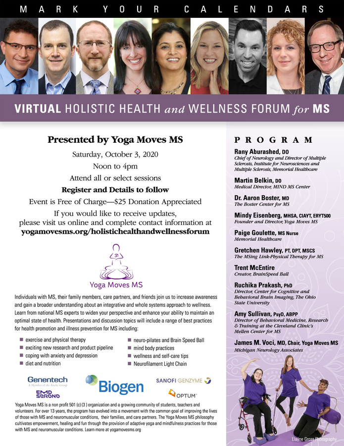 Virtual Holistic Health and Wellness Forum for MS Presented by Yoga Moves MS (YMMS)